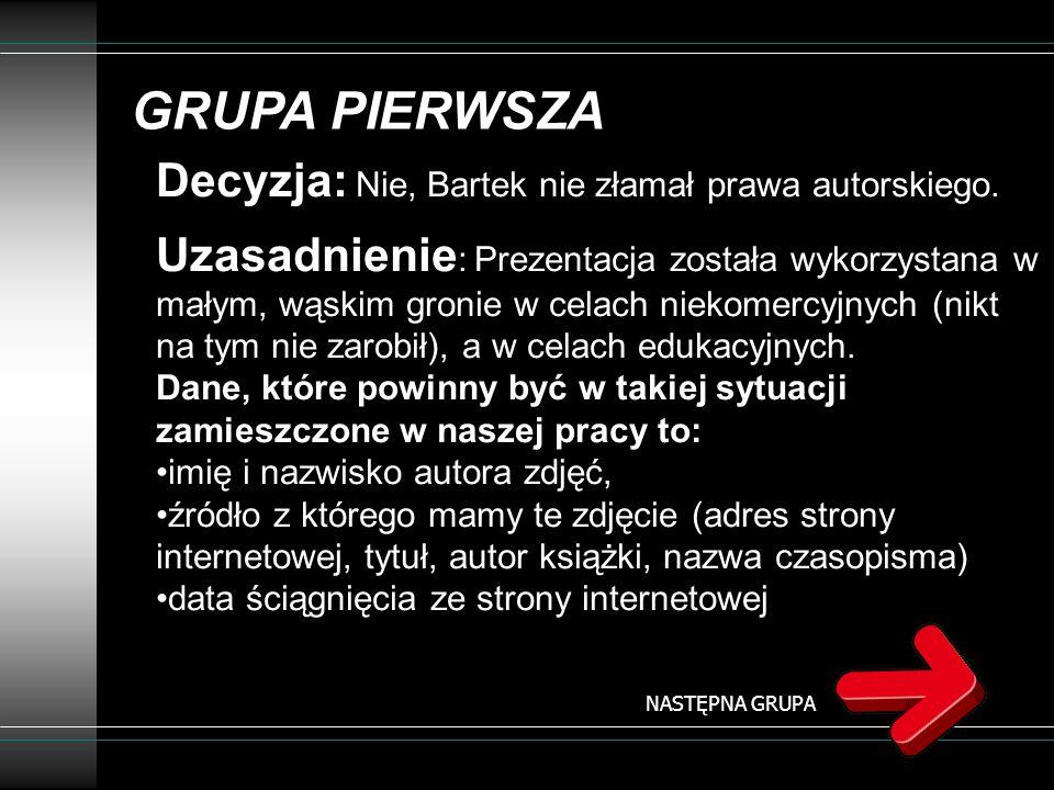 GRUPA DRUDA Bartek przygotował własną prezentację multimedialną pt.