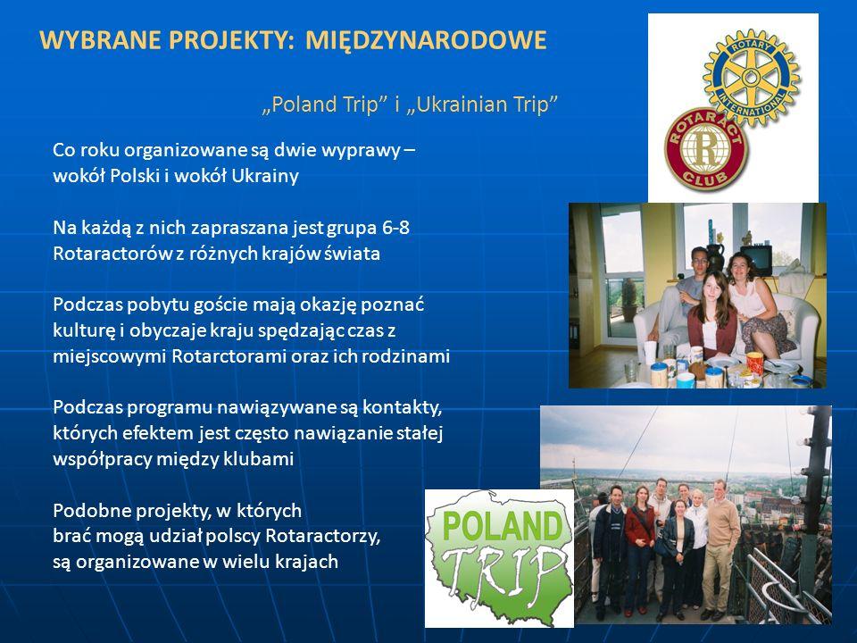WYBRANE PROJEKTY: MIĘDZYNARODOWE Poland Trip i Ukrainian Trip Co roku organizowane są dwie wyprawy – wokół Polski i wokół Ukrainy Na każdą z nich zapr