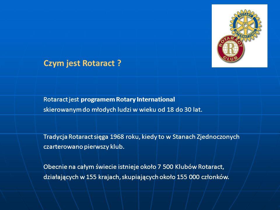 Czym jest Rotaract ? Rotaract jest programem Rotary International skierowanym do młodych ludzi w wieku od 18 do 30 lat. Tradycja Rotaract sięga 1968 r