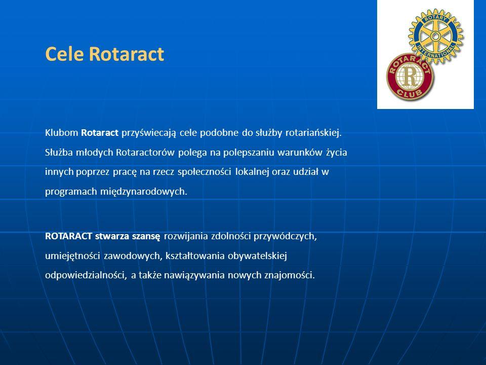 Cele Rotaract Klubom Rotaract przyświecają cele podobne do służby rotariańskiej. Służba młodych Rotaractorów polega na polepszaniu warunków życia inny