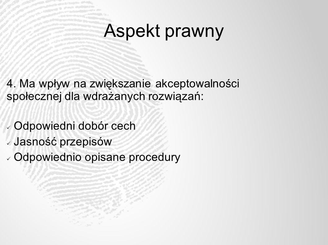 Aspekt prawny 5. Pozwala na rozwiązywanie zaistniałych problemów. Grupy wyłączeń Procedury awaryjne