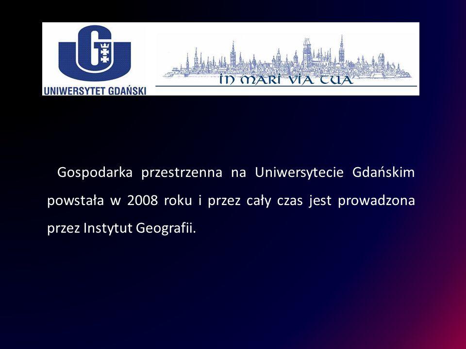 Gospodarka przestrzenna na Uniwersytecie Gdańskim powstała w 2008 roku i przez cały czas jest prowadzona przez Instytut Geografii.
