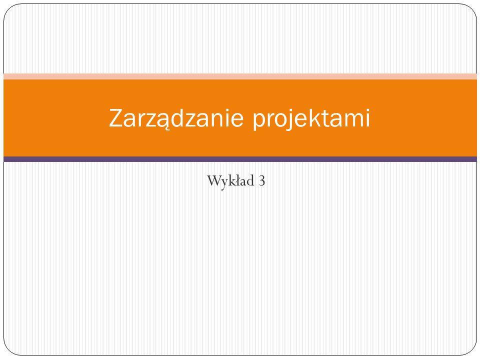 Wykład 3 Zarządzanie projektami