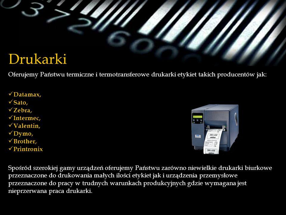 Drukarki Oferujemy Państwu termiczne i termotransferowe drukarki etykiet takich producentów jak: Datamax, Sato, Zebra, Intermec, Valentin, Dymo, Broth