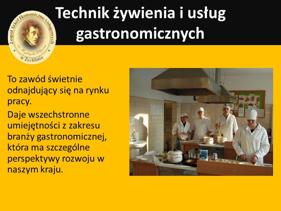 Technik żywienia i usług gastronomicznych To zawód świetnie odnajdujący się na rynku pracy. Daje wszechstronne umiejętności z zakresu branży gastronom