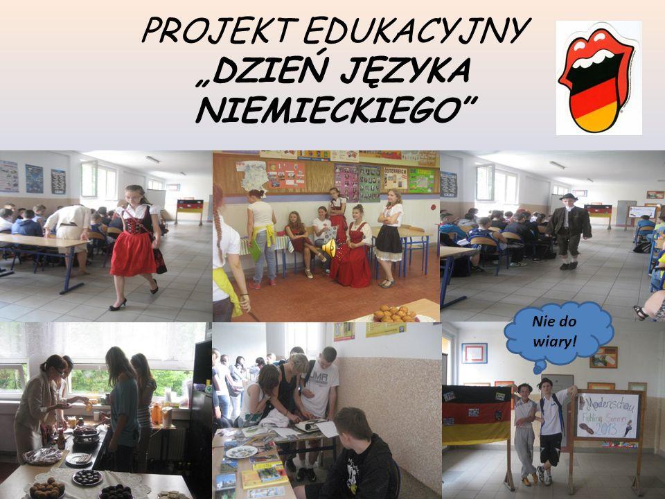 Temat projektu: Jak zorganizować Dzień Niemiecki w szkole.