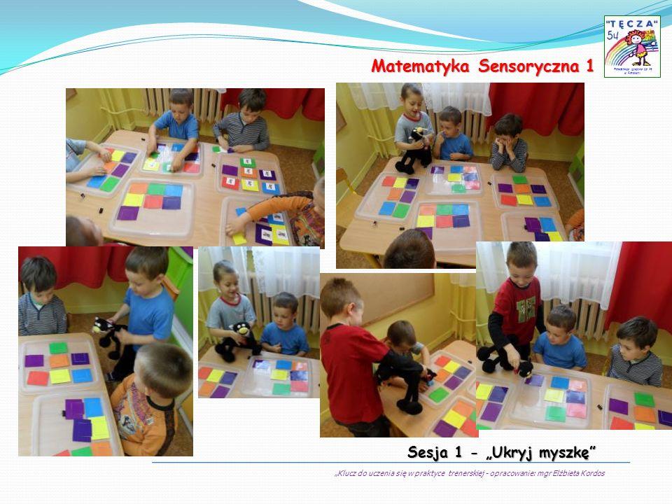 Klucz do uczenia się w praktyce trenerskiej - opracowanie: mgr Elżbieta Kordos Przedszkole Miejskie Nr 54 w Sosnowcu Matematyka Sensoryczna 1 Sesja 1