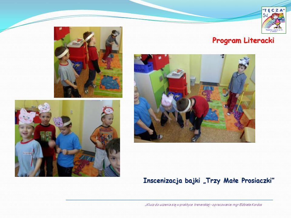 Klucz do uczenia się w praktyce trenerskiej - opracowanie: mgr Elżbieta Kordos Przedszkole Miejskie Nr 54 w Sosnowcu Program Literacki Inscenizacja ba