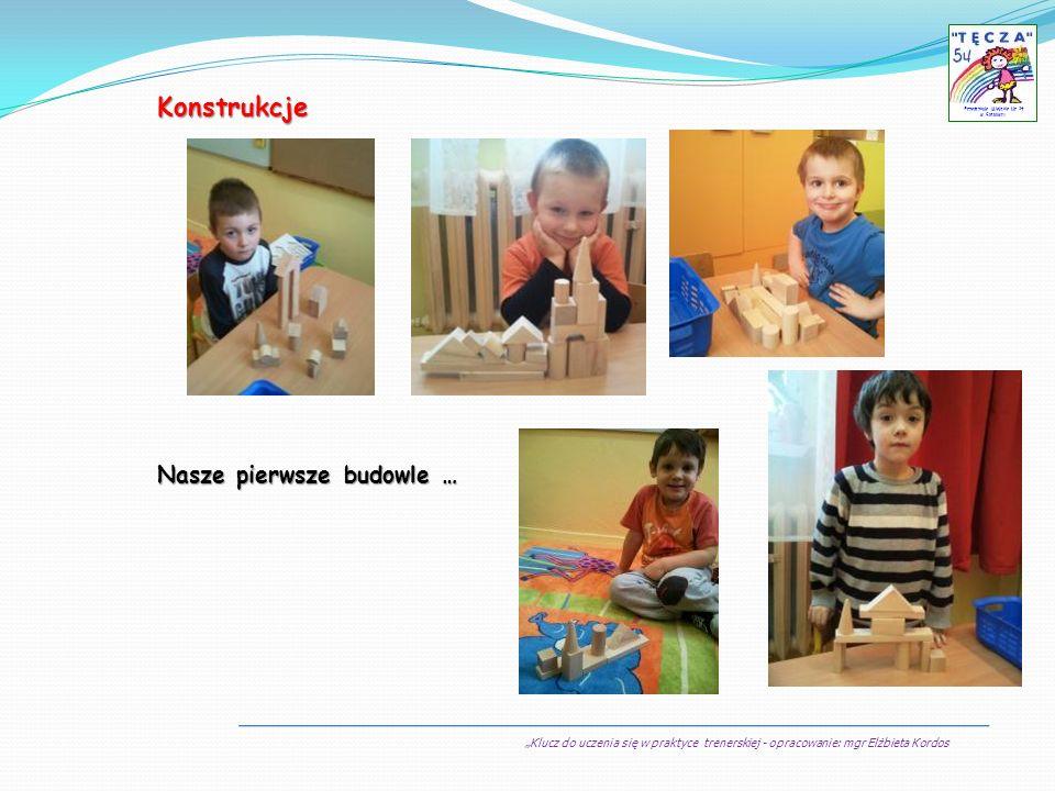 Klucz do uczenia się w praktyce trenerskiej - opracowanie: mgr Elżbieta Kordos Przedszkole Miejskie Nr 54 w Sosnowcu Konstrukcje Nasze pierwsze budowl