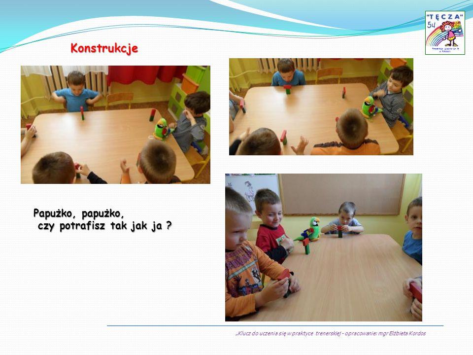 Klucz do uczenia się w praktyce trenerskiej - opracowanie: mgr Elżbieta Kordos Przedszkole Miejskie Nr 54 w Sosnowcu Konstrukcje Papużko, papużko, czy