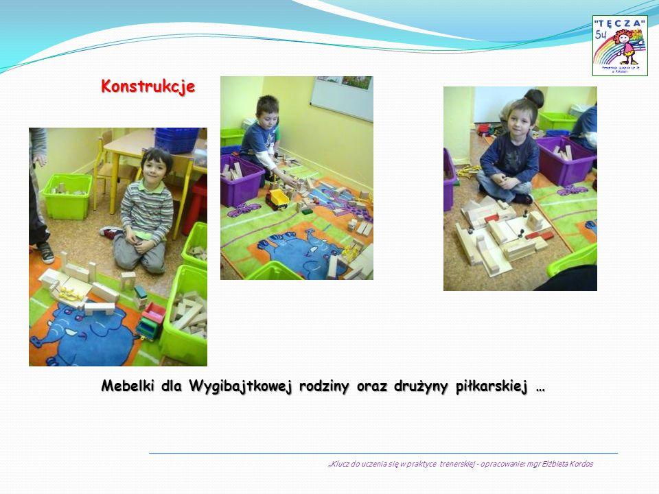 Klucz do uczenia się w praktyce trenerskiej - opracowanie: mgr Elżbieta Kordos Przedszkole Miejskie Nr 54 w Sosnowcu Konstrukcje Mebelki dla Wygibajtk