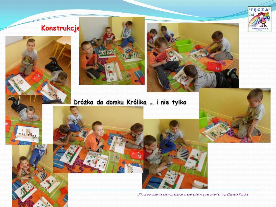 Klucz do uczenia się w praktyce trenerskiej - opracowanie: mgr Elżbieta Kordos Przedszkole Miejskie Nr 54 w Sosnowcu Konstrukcje Dróżka do domku Króli