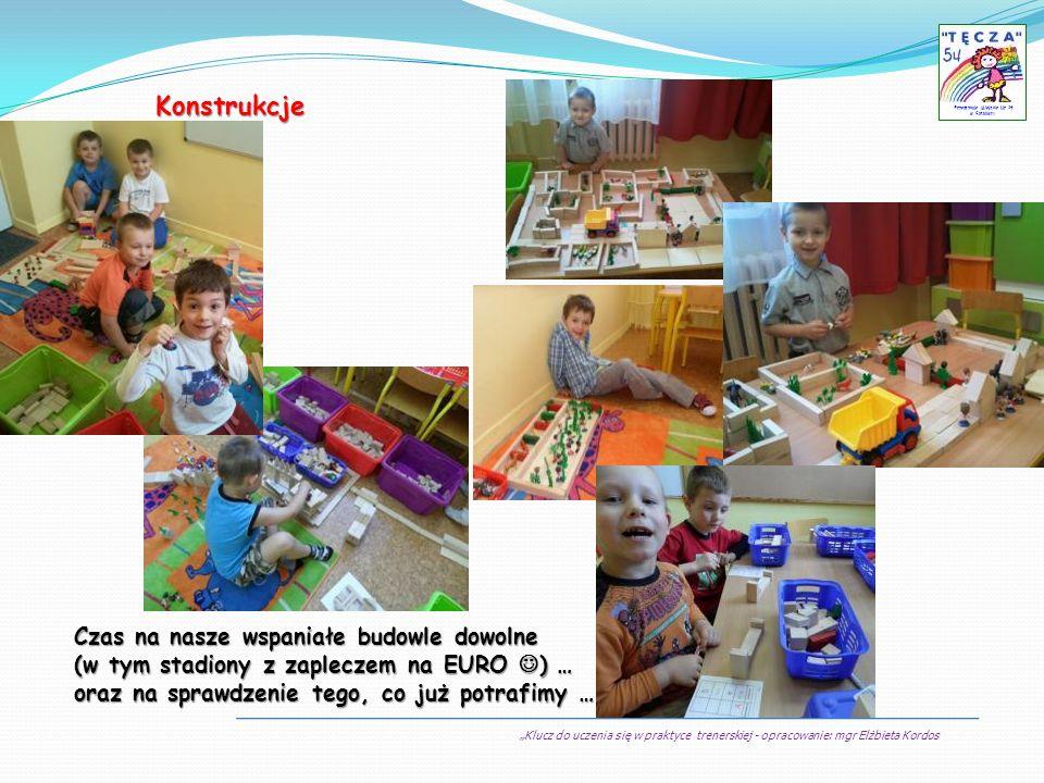 Klucz do uczenia się w praktyce trenerskiej - opracowanie: mgr Elżbieta Kordos Przedszkole Miejskie Nr 54 w Sosnowcu Konstrukcje Czas na nasze wspania