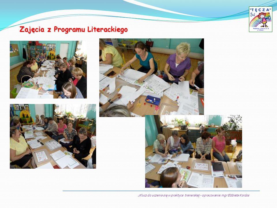 Klucz do uczenia się w praktyce trenerskiej - opracowanie: mgr Elżbieta Kordos Przedszkole Miejskie Nr 54 w Sosnowcu Zajęcia z Programu Literackiego