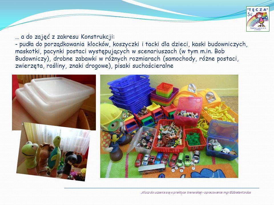 Klucz do uczenia się w praktyce trenerskiej - opracowanie: mgr Elżbieta Kordos Przedszkole Miejskie Nr 54 w Sosnowcu I krok w prowadzeniu praktyki trenerskiej z dziećmi WŁAŚCIWE ZAPLANOWANIE PRACY I krok w prowadzeniu praktyki trenerskiej z dziećmi to WŁAŚCIWE ZAPLANOWANIE PRACY z uwzględnieniem potrzeb i możliwości wychowanków, czyli : A) dobór grupy odbiorców zajęć z KDU A) dobór grupy odbiorców zajęć z KDU - założyłam, że będzie to najmłodsza grupa, w której systematycznie realizuję godziny dydaktyczne (postawiłam na możliwość objęcia programem większej ilości dzieci, jak i dłuższy kontakt z dziećmi w danym dniu sprzyjający utrwalaniu treści realizowanych w KDU) … niestety już w drugim dniu zajęć okazało się, że pora dnia (przesunęłam godziny pracy) zupełnie nie sprzyja skuteczności przekazu (duża rotacja dzieci) … szybko podjęłam decyzję, o wprowadzeniu KDU do zajęć terapii pedagogicznej … W ten oto sposób mogliśmy z grupą naszych chłopców rozpocząć wspólną zabawę z Kluczem … 1 1 PRAKTYKA Z DZIEĆMI