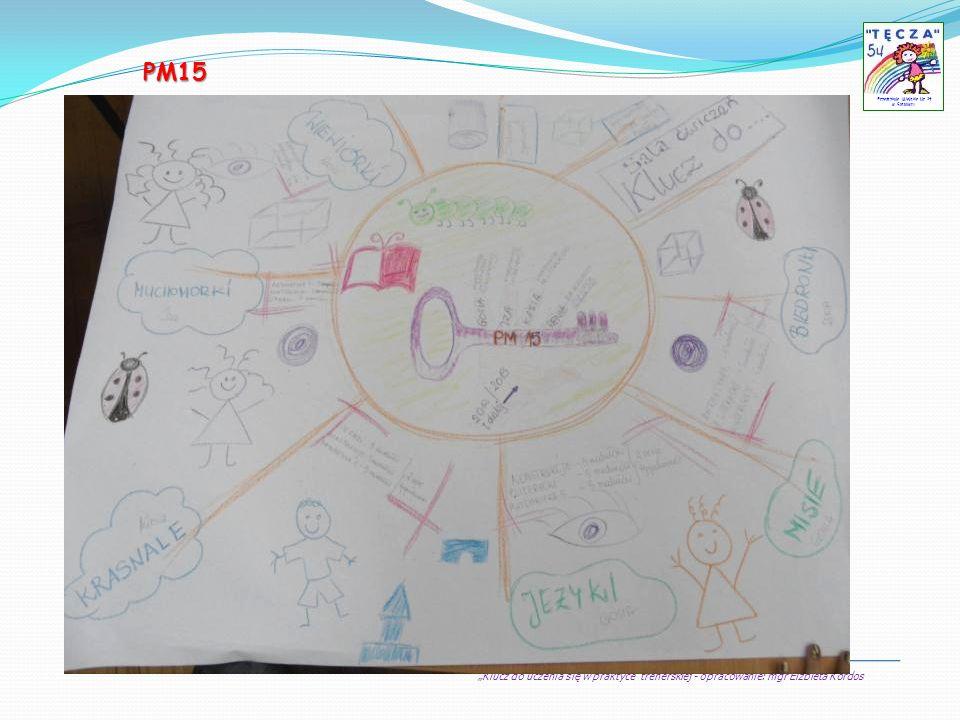Klucz do uczenia się w praktyce trenerskiej - opracowanie: mgr Elżbieta Kordos Przedszkole Miejskie Nr 54 w Sosnowcu PM15