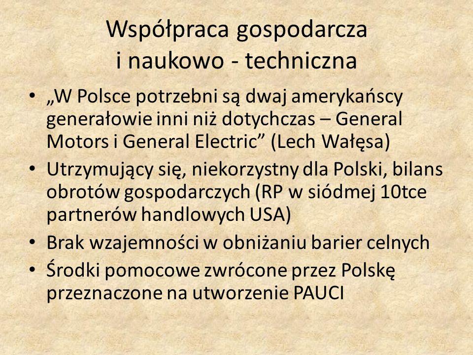 W Polsce potrzebni są dwaj amerykańscy generałowie inni niż dotychczas – General Motors i General Electric (Lech Wałęsa) Utrzymujący się, niekorzystny