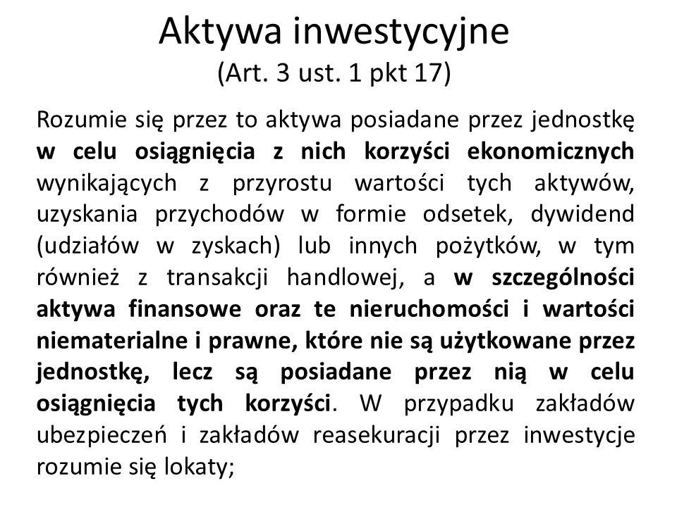 Instrumenty finansowe (Art.3 ust.