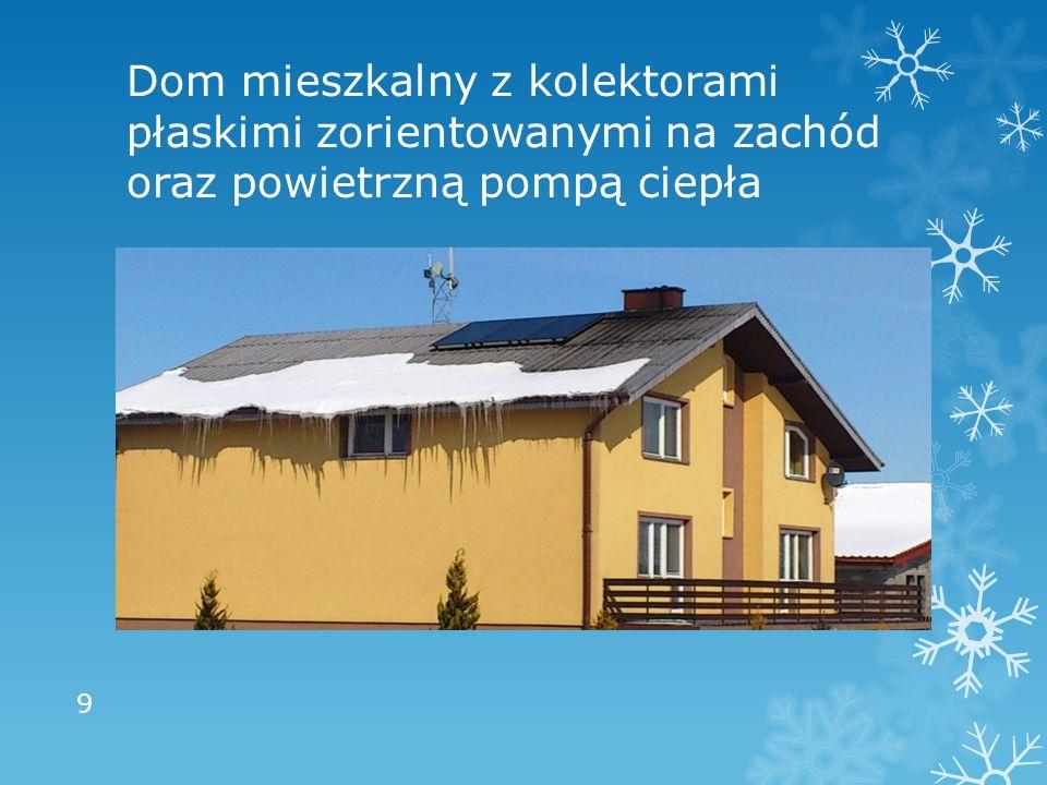 Dom mieszkalny z kolektorami płaskimi zorientowanymi na zachód oraz powietrzną pompą ciepła 9