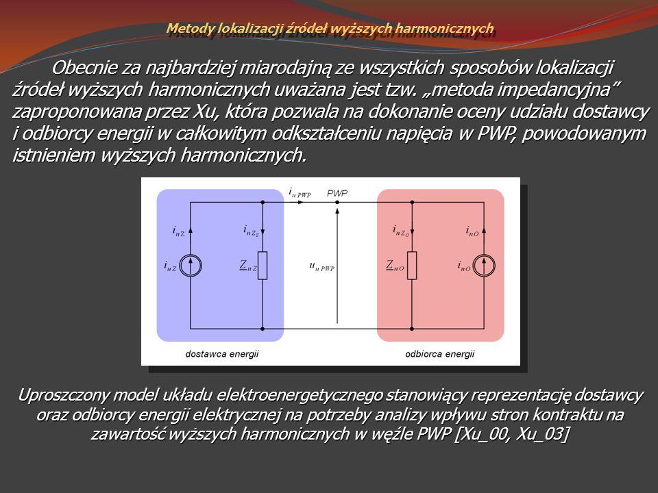 Obecnie za najbardziej miarodajną ze wszystkich sposobów lokalizacji źródeł wyższych harmonicznych uważana jest tzw. metoda impedancyjna zaproponowana