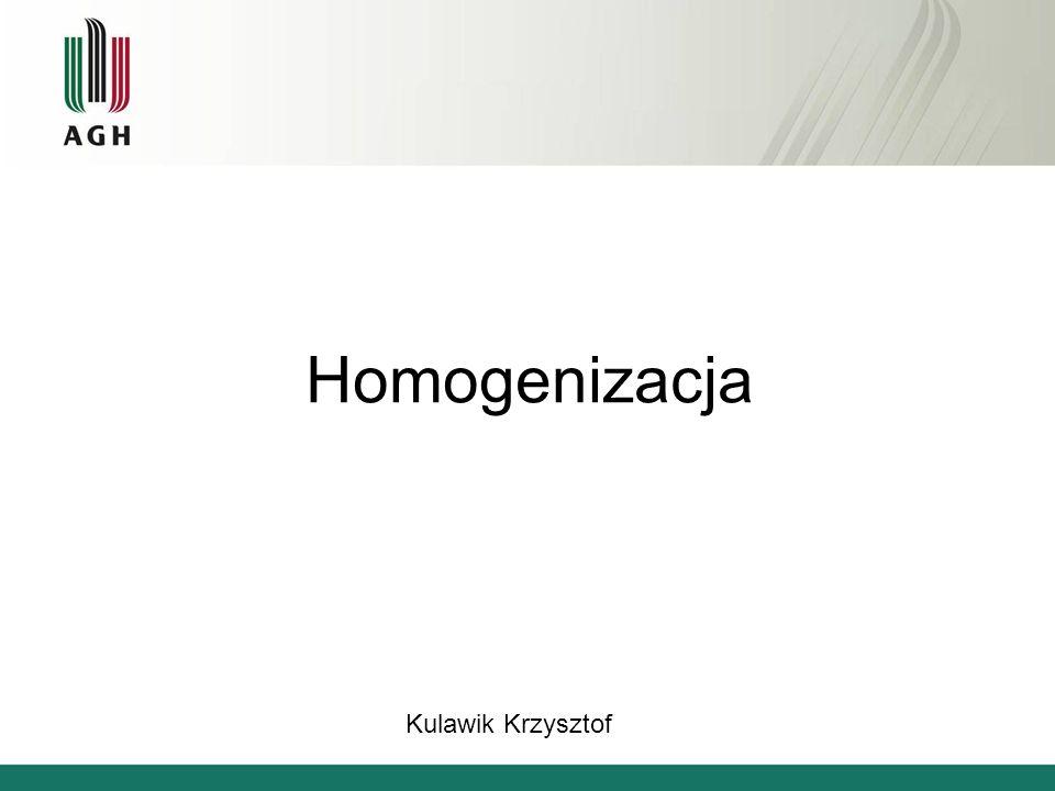 Matematyczna teoria homogenizacji Jeśli liczba niejednorodności jest bardzo duża (zdąża do nieskończoności), to rozwiązanie dla ośrodka niejednorodnego jest bliskie rozwiązaniu dla ośrodka makroskopowo jednorodnego.