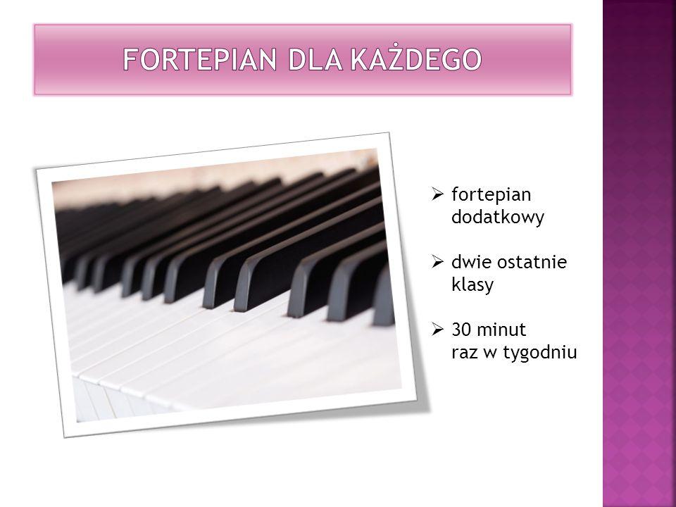 fortepian dodatkowy dwie ostatnie klasy 30 minut raz w tygodniu