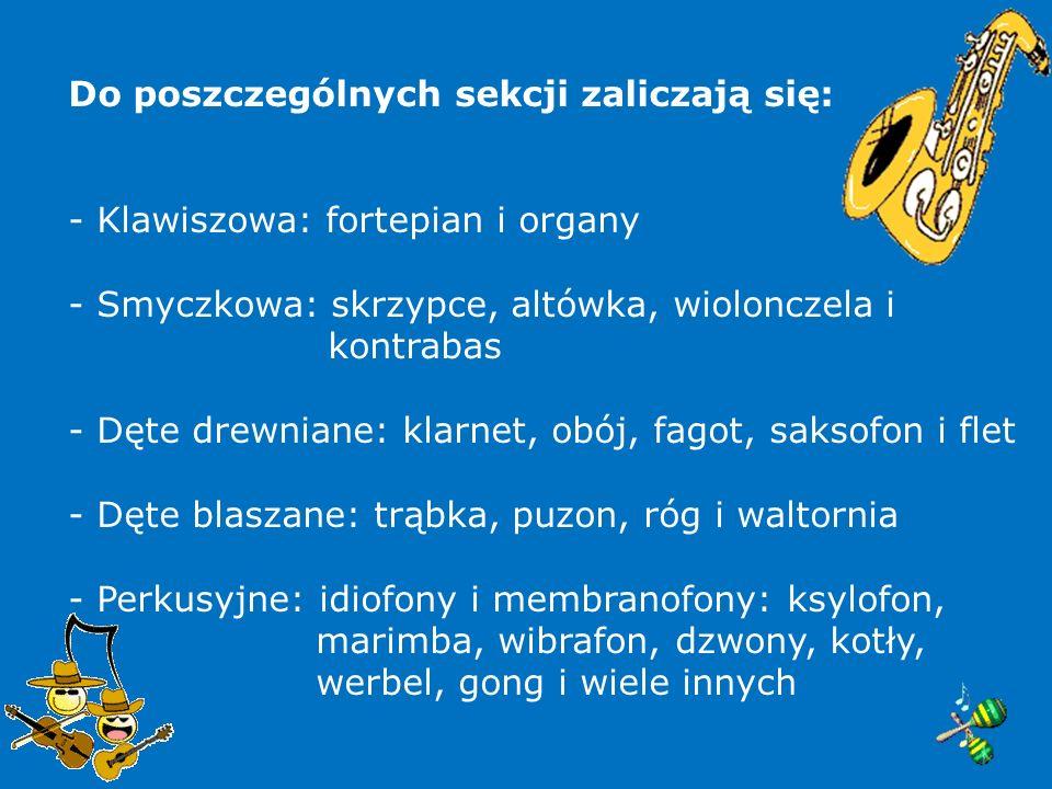 Sekcje instrumentów Sekcja Fortepianu głównego i na wydziale rytmiki (kierownictwo: prof.