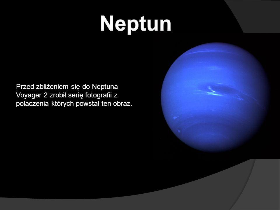 Przed zbliżeniem się do Neptuna Voyager 2 zrobił serię fotografii z połączenia których powstał ten obraz.