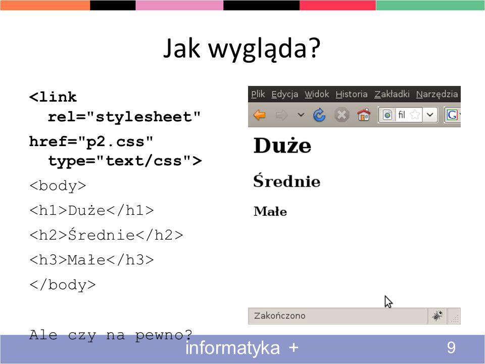 Przykład 1 c.d.20 informatyka + $(a).click(function(event){...