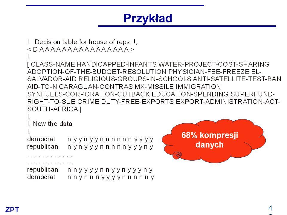 ZPT 46 Przykład 68% kompresji danych