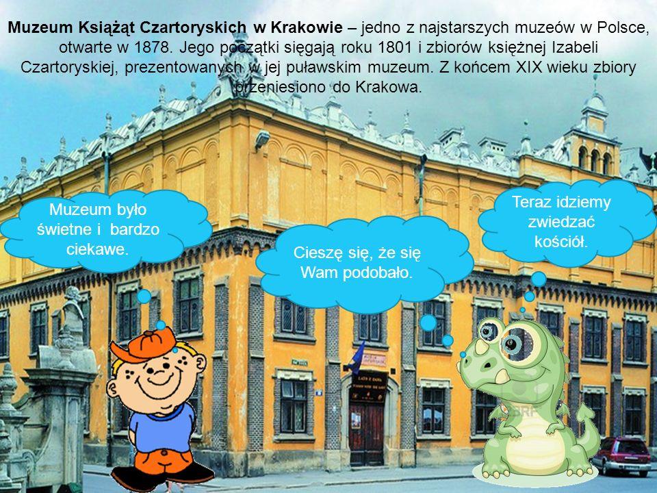 Muzeum było świetne i bardzo ciekawe. Cieszę się, że się Wam podobało. Teraz idziemy zwiedzać kościół. Muzeum Książąt Czartoryskich w Krakowie – jedno
