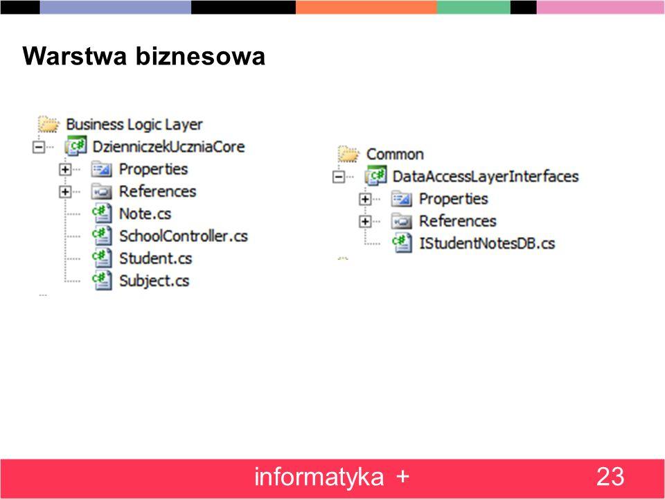 23 Warstwa biznesowa informatyka +