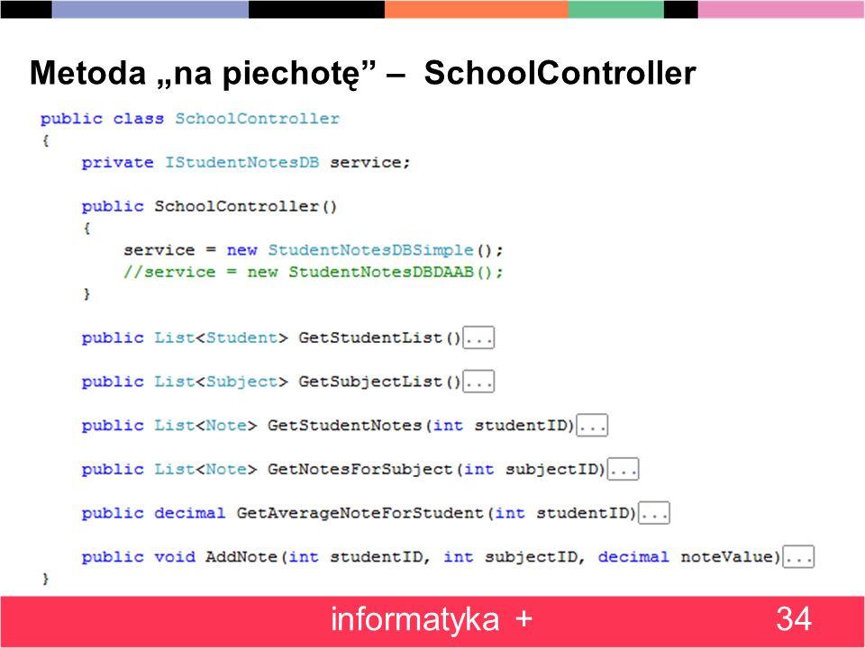 34 Metoda na piechotę – SchoolController informatyka +