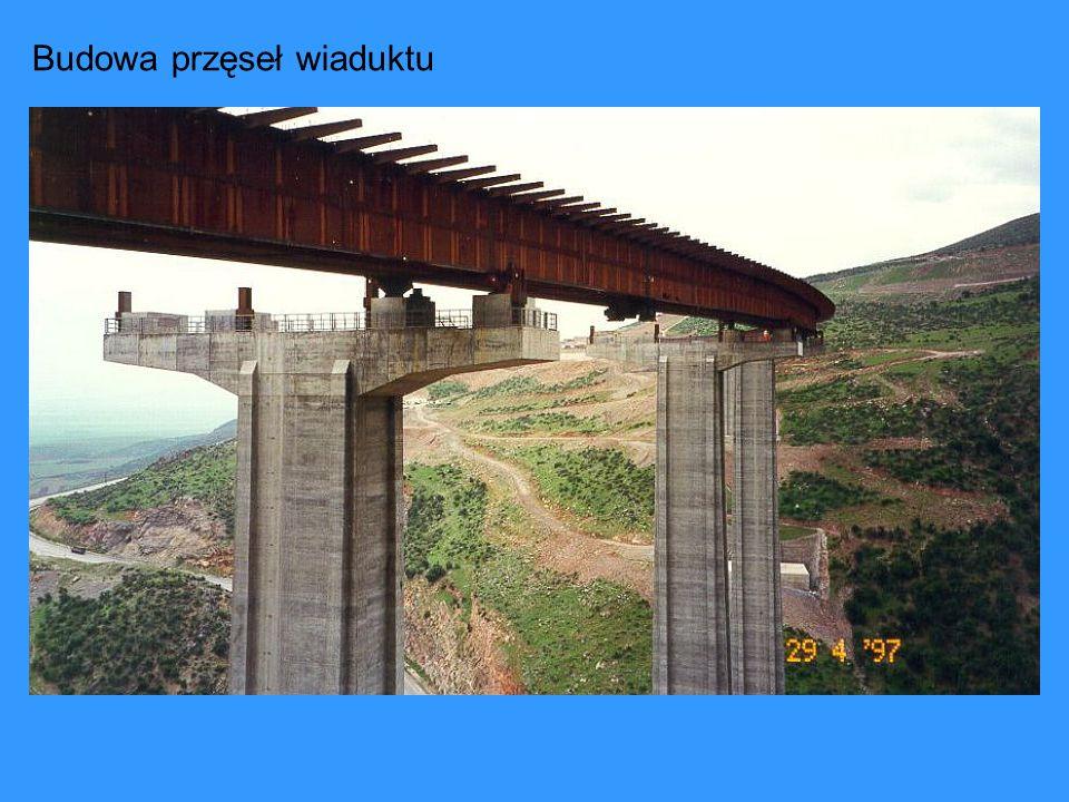 Budowa przęseł wiaduktu