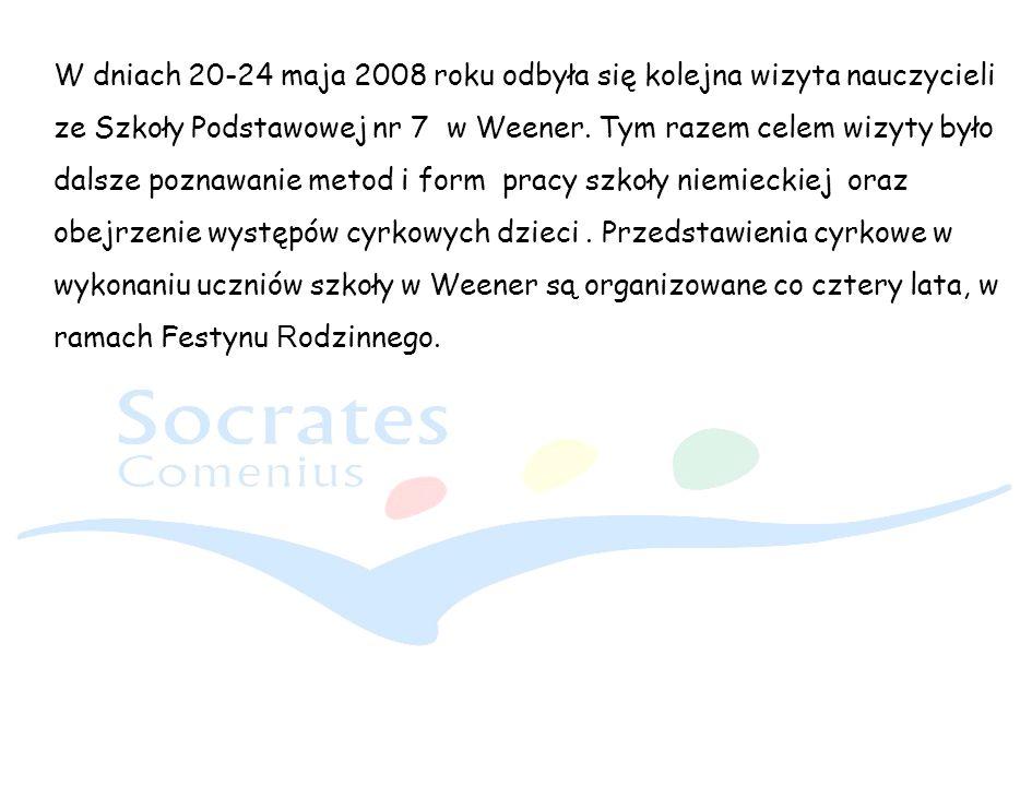 W dniach 20-24 maja 2008 roku odbyła się kolejna wizyta nauczycieli ze Szkoły Podstawowej nr 7 w Weener. Tym razem celem wizyty było dalsze poznawanie