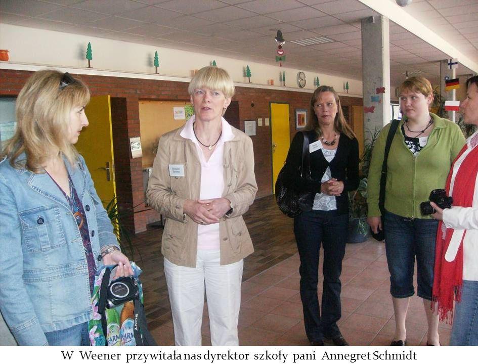 W Weener przywitała nas dyrektor szkoły pani Annegret Schmidt