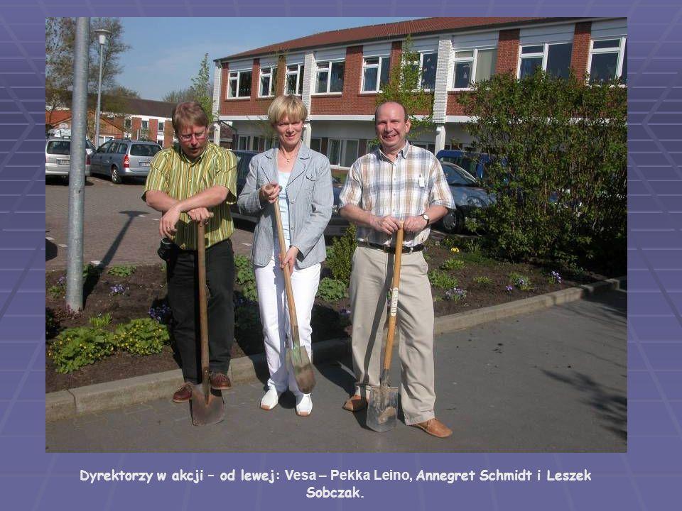 Dyrektorzy w akcji – od lewej: Vesa – Pekka Leino, Annegret Schmidt i Leszek Sobczak.