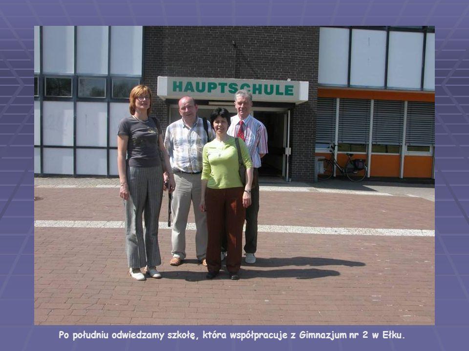 Po południu odwiedzamy szkołę, która współpracuje z Gimnazjum nr 2 w Ełku.