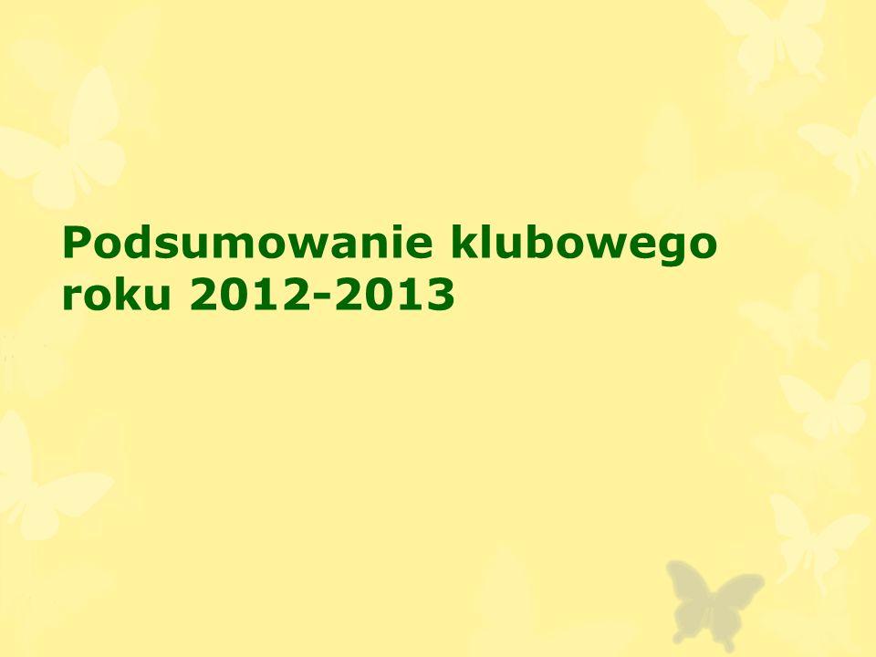 Podsumowanie klubowego roku 2012-2013