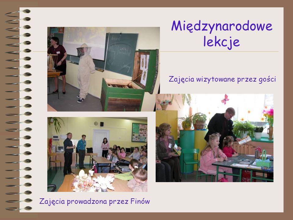 Międzynarodowe lekcje Zajęcia prowadzona przez Finów Zajęcia wizytowane przez gości