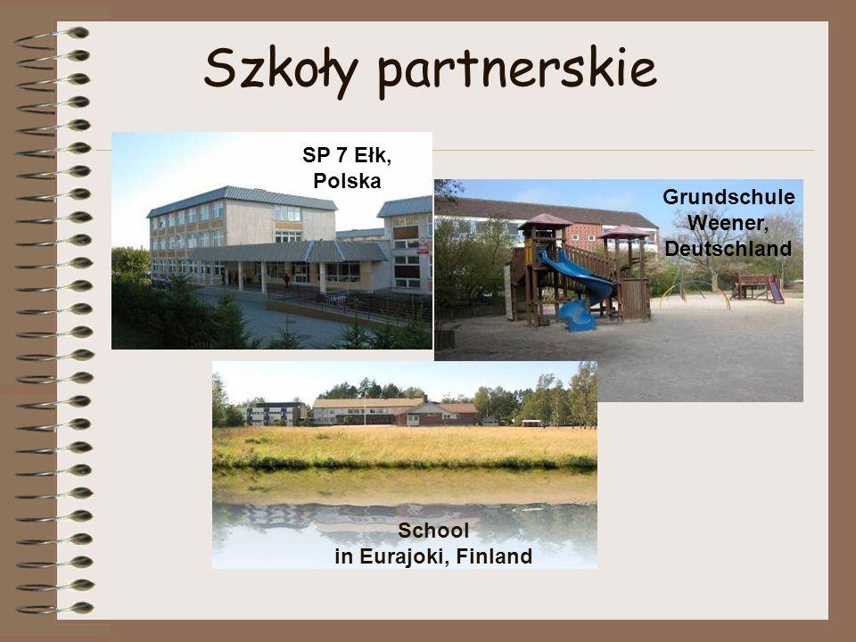 Szkoły partnerskie SP 7 Ełk, Polska Grundschule Weener, Deutschland School in Eurajoki, Finland