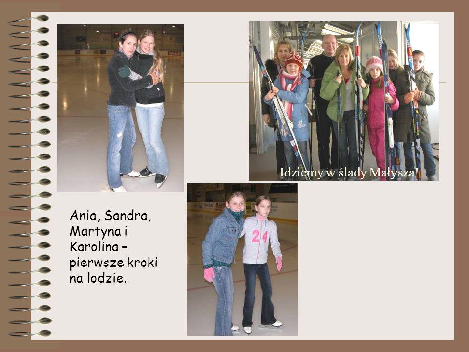 Ania, Sandra, Martyna i Karolina – pierwsze kroki na lodzie. Idziemy w ślady Małysza!