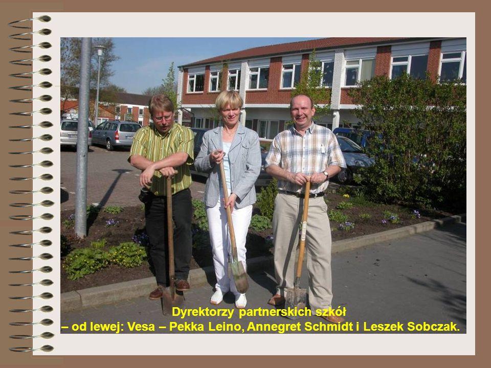 Dyrektorzy partnerskich szkół – od lewej: Vesa – Pekka Leino, Annegret Schmidt i Leszek Sobczak.