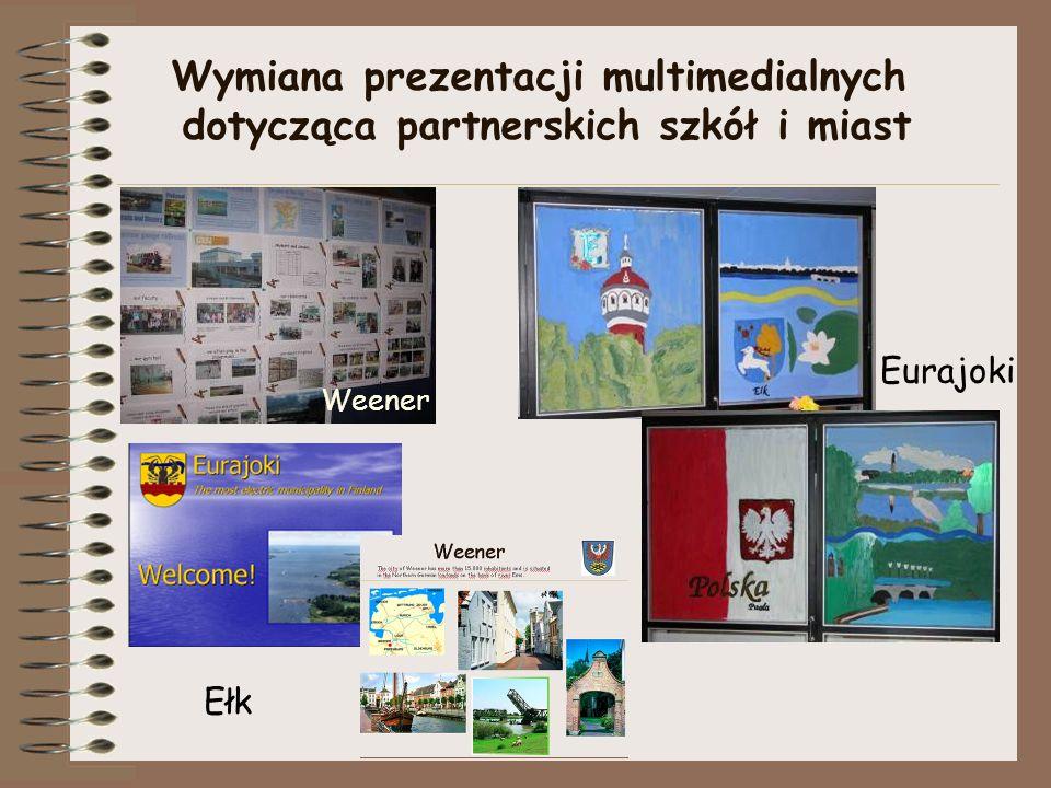 Wymiana prezentacji multimedialnych dotycząca partnerskich szkół i miast Weener Ełk Eurajoki
