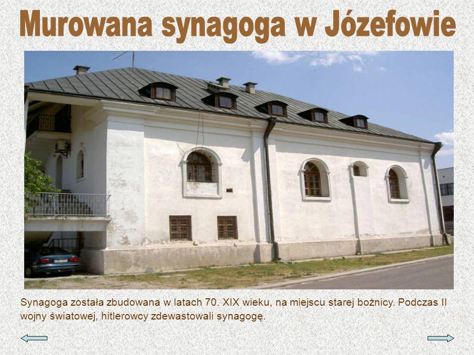 Synagoga została zbudowana w latach 70. XIX wieku, na miejscu starej bożnicy. Podczas II wojny światowej, hitlerowcy zdewastowali synagogę.
