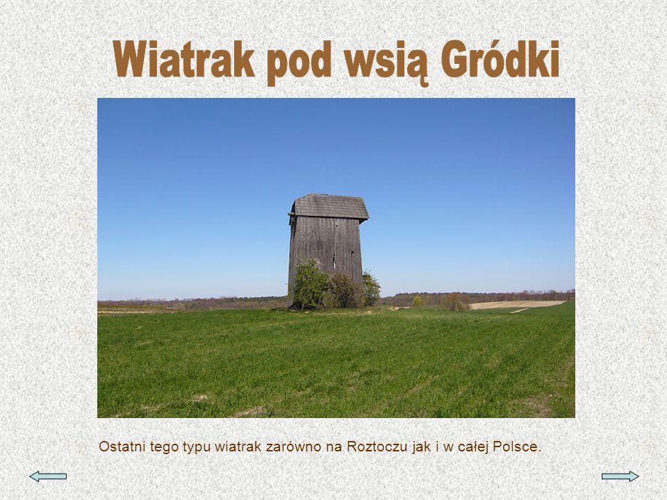 Ostatni tego typu wiatrak zarówno na Roztoczu jak i w całej Polsce.