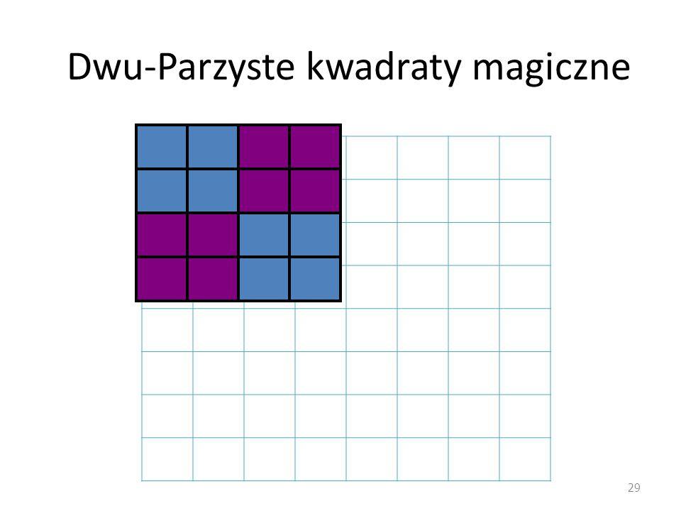 Dwu-Parzyste kwadraty magiczne 29