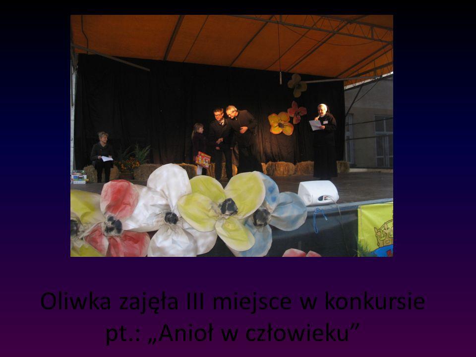 Oliwka zajęła III miejsce w konkursie pt.: Anioł w człowieku