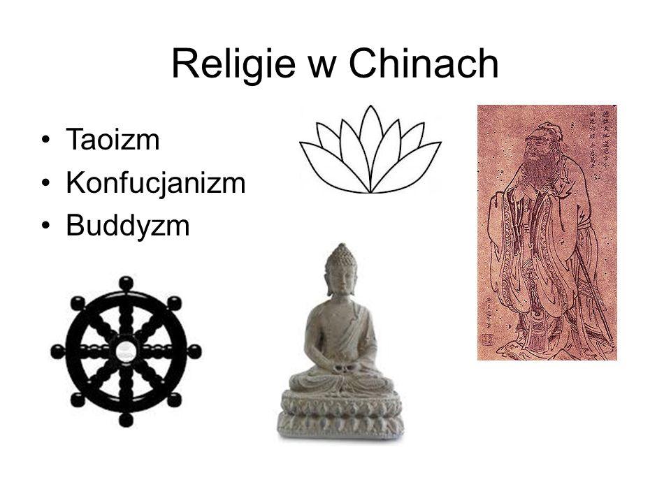 Religie w Chinach Taoizm Konfucjanizm Buddyzm