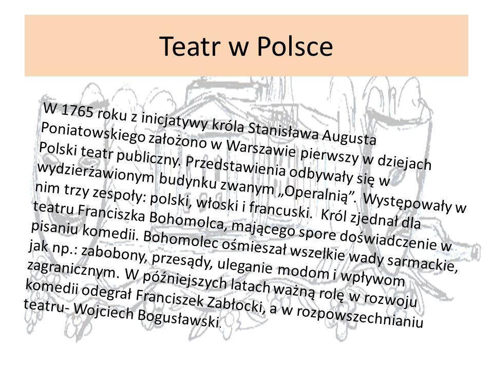 Rozpoczęcie walk po pierwszym rozbiorze Polski spowodowało zawieszenie na siedem lat działalności teatru publicznego.